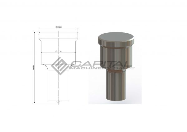 9001 Round Punch For Kingsland Iron Worker 3