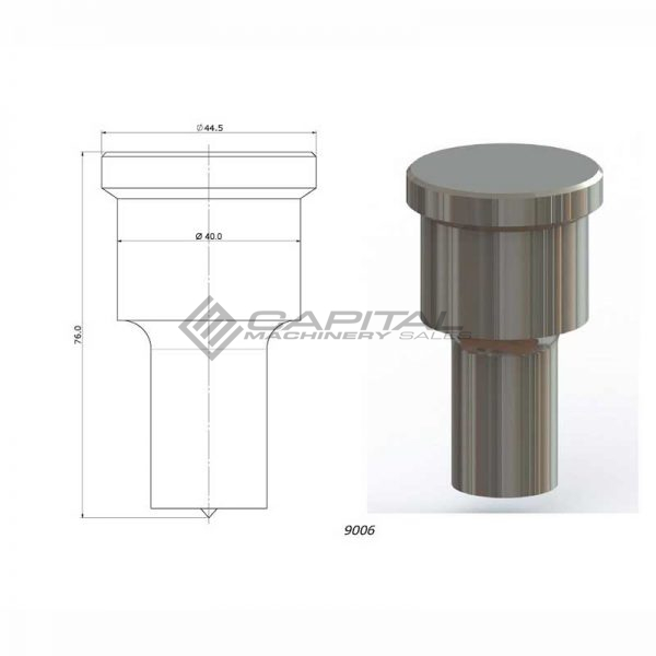 9006 round punch for kingsland iron worker