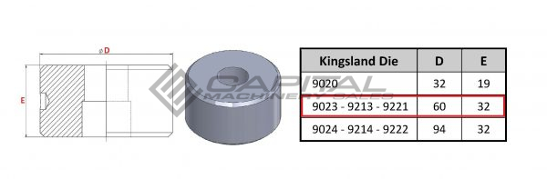 9023 Round Die Offset For Kingsland Iron Worker 3
