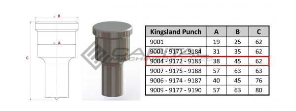 9185 Elongated Punch For Kingsland Iron Worker 2