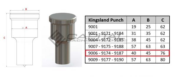 9187 elongated punch for kingsland iron worker 2