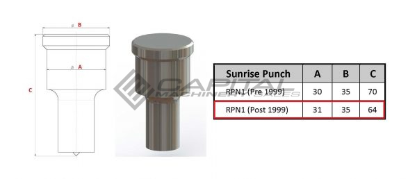Sunrise Round Punch Post 1999 Models 2