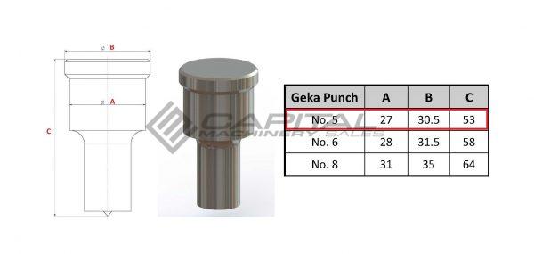 No. 5 Round Punch For Geka Iron Worker