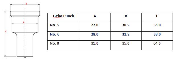 Geka no. 6 Round Punch