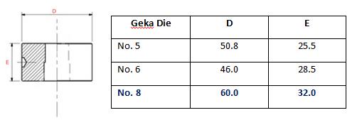Geka no. 8 Round Die