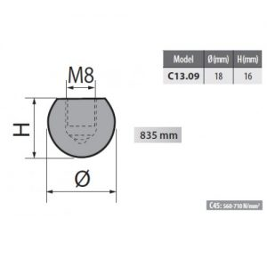 c13 09 rolleri radius top tool 9mm radius