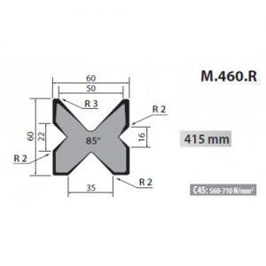 m460 rc rolleri multi vee die 16 22 35 50mm vee 85 degree 415mm long