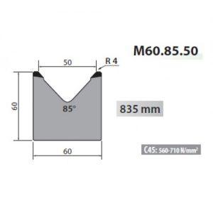m60 85 50 rolleri single vee die 50mm vee 85 degree 60mm h