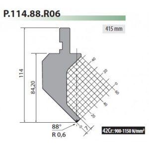 p114 88 r06 rolleri top tool gooseneck
