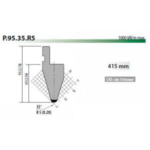 p95 35 r5 rolleri top tool 5mm radius