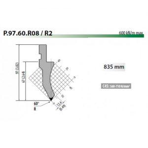 p97 60 r08 rolleri top tool 60 degree