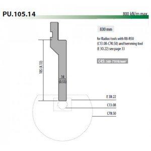 pu105 14 rolleri radius tool holder 105mm