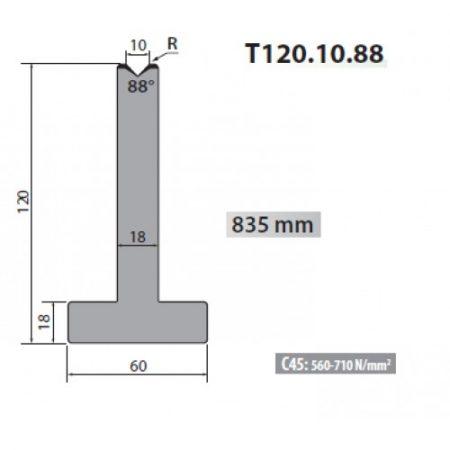 T120 10 88 Rolleri Single Vee Die 10mm Vee 88 Degree 120mm H 2