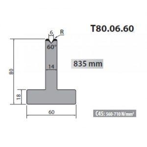 t80 06 60 rolleri single vee die 6mm vee 60 degree 80mm h