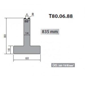 t80 06 88 rolleri single vee die 6mm vee 88 degree 80mm h