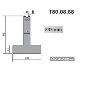 t80 08 88 rolleri single vee die 8mm vee 88 degree 80mm h