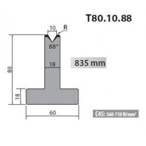 t80 10 88 rolleri single vee die 10mm vee 88 degree 80mm h