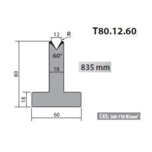 t80 12 60 rolleri single vee die 12mm vee 60 degree 80mm h