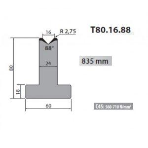t80 16 88 rolleri single vee die 16mm vee 88 degree 80mm h