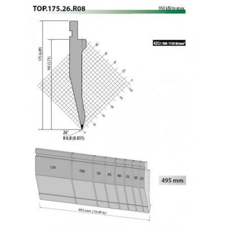top175 75 r08 gooseneck top tool 145 h