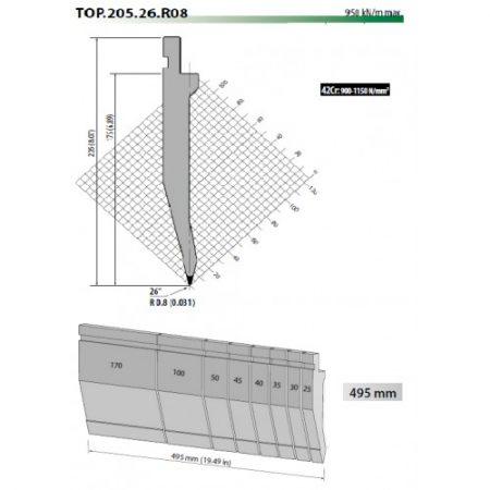 top205 26 r08 rolleri top tool 26 degree