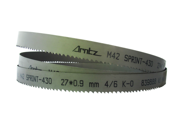Bandsaw Blade For Bomar Model Transverse 410.260 Ganc Length 3800mm X Width 27mm X 0.9mm X Tpi 2