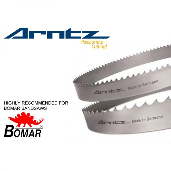 bandsaw blade for bomar model transverse 410.260 ganc length 3800mm x width 27mm x 0.9mm x tpi
