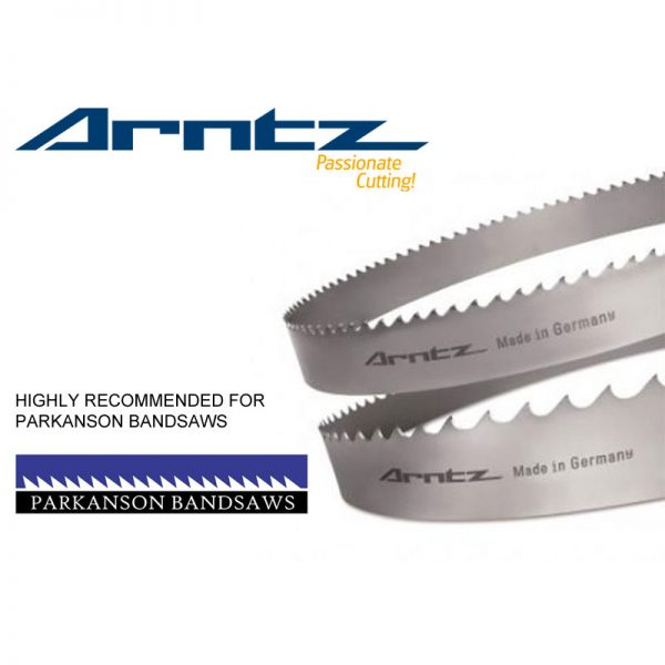 bandsaw blade for parkanson model pkv600dm length 4450mm x width 34mm x 1.1 x tpi