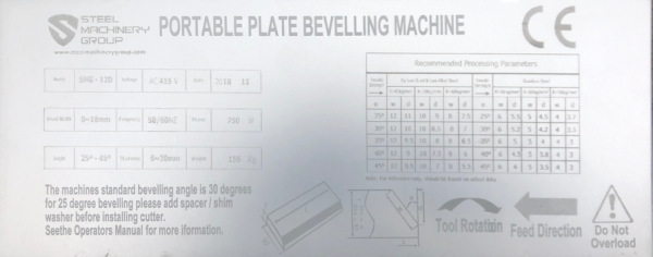 Smg 12d Plate Bevelling Machines Plate