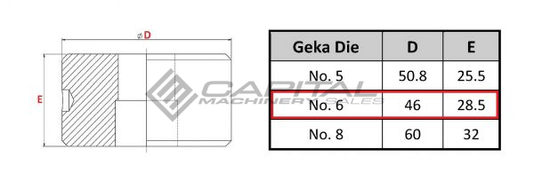 No. 6 Elongated Die For Geka Iron Worker 2