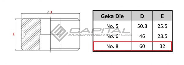 No. 8 Elongated Die For Geka Iron Worker 2