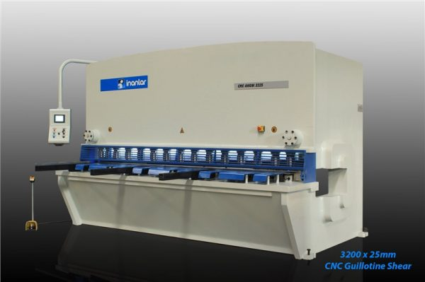 inanlar 3200 x 25mm cnc hydraulic guillotine shear