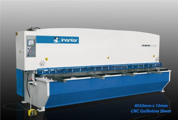 inanlar 4050 x 10mm cnc hydraulic guillotine shear
