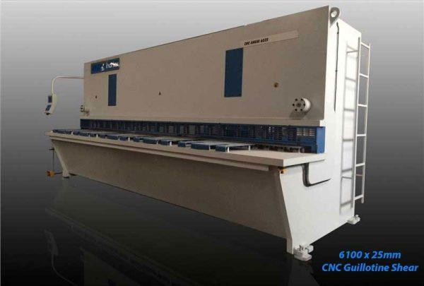 inanlar 6100 x 25mm cnc hydraulic guillotine shear