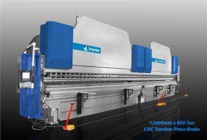 inanlar cnc hap 12200 x 800 ton hydraulic tandem press brake