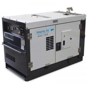 atlantic air asc 16b diesel screw compressor