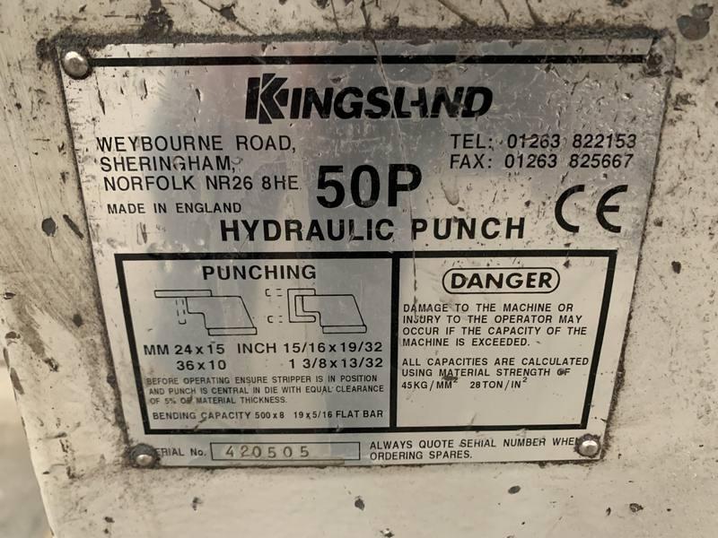 Kingsland Cnc Controlled Linear Rail Punching Machine 005