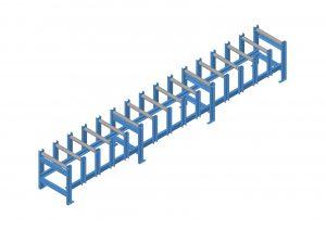 heavy duty gravity conveyor fork loading