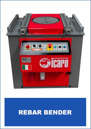 Icaro Machinery Brand Rebar Bender