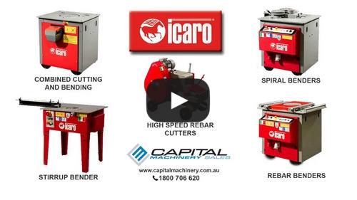 ICARO Rebar Machine Demo Cut Bend Spiral Stir up Bend and Combined