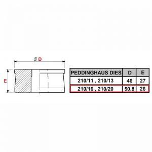 Peddinghaus 210/16, 210/20 Round Die
