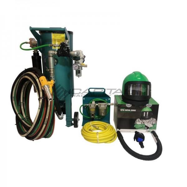 Multiblast Amb90 F 40 Litre Pressure Pot Sandblaster Equipment Full Package