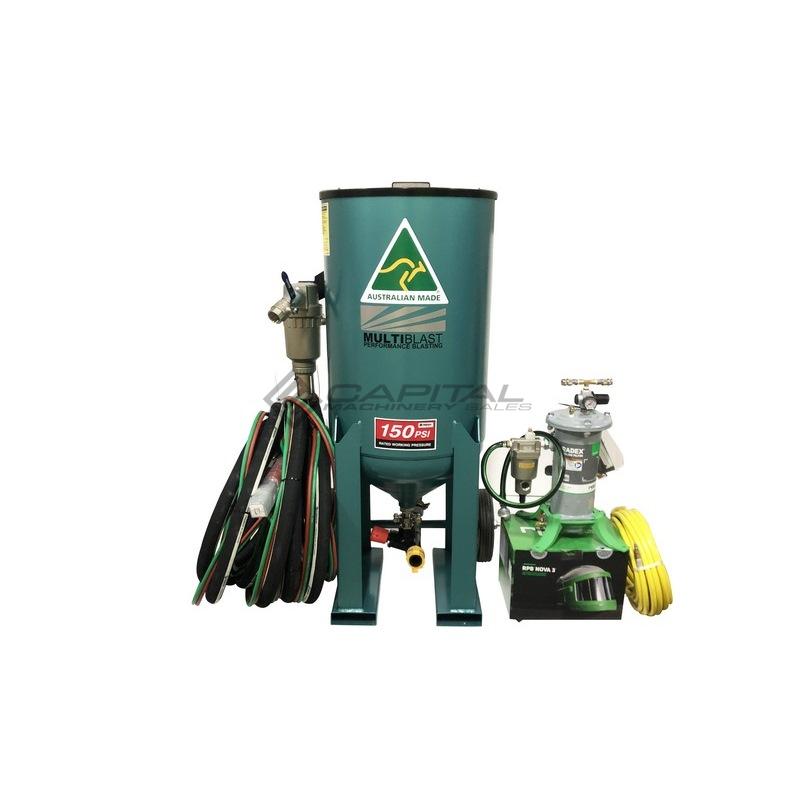 Multiblast Pro400 174 Litre Blasting Pot Equipment Full Package 010