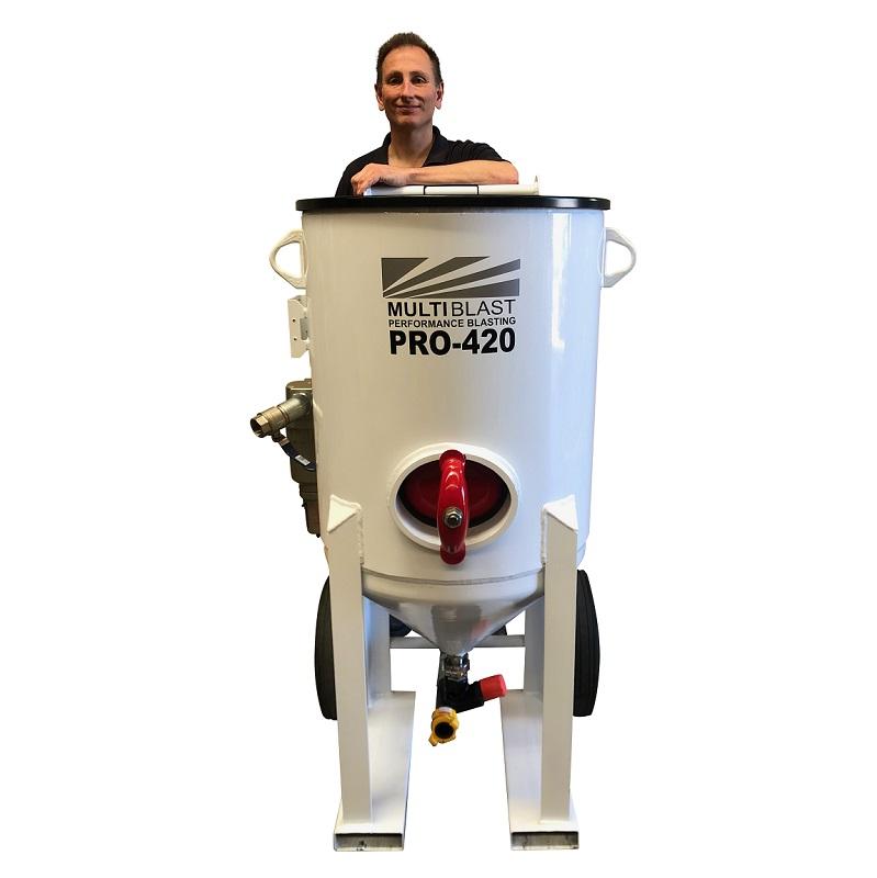 Multiblast Pro420 185 Litre Blasting Pot Machine Basic Package 5 Australia