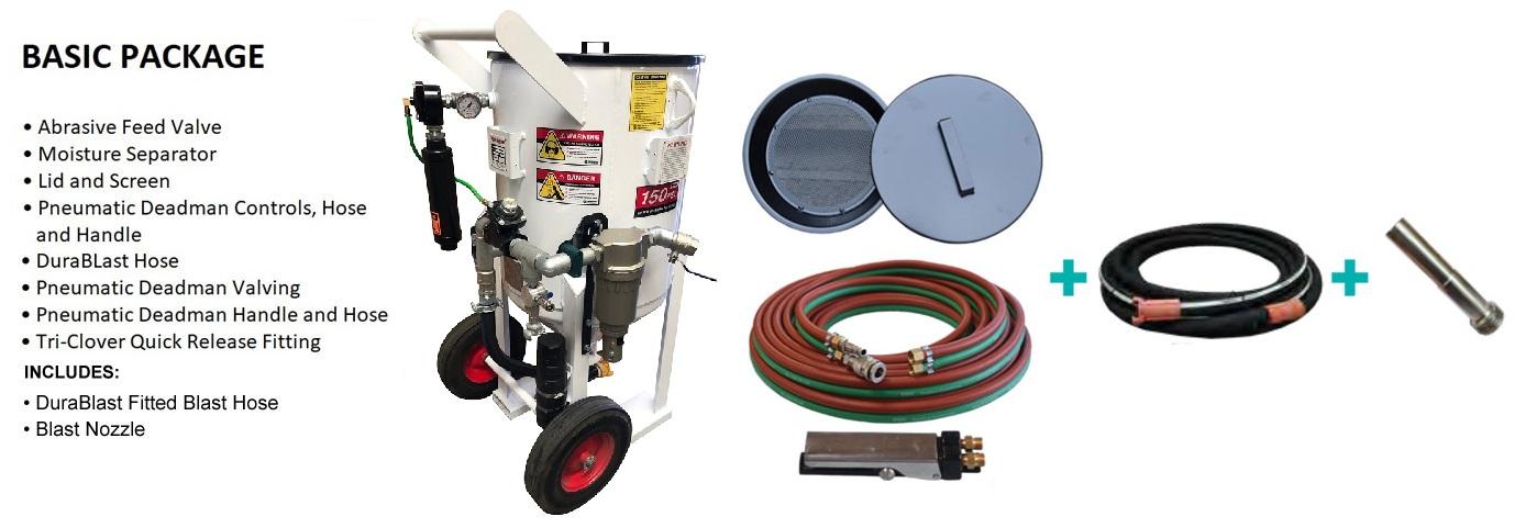Multiblast Pro420 185 Litre Blasting Pot Machine Basic Package B Features