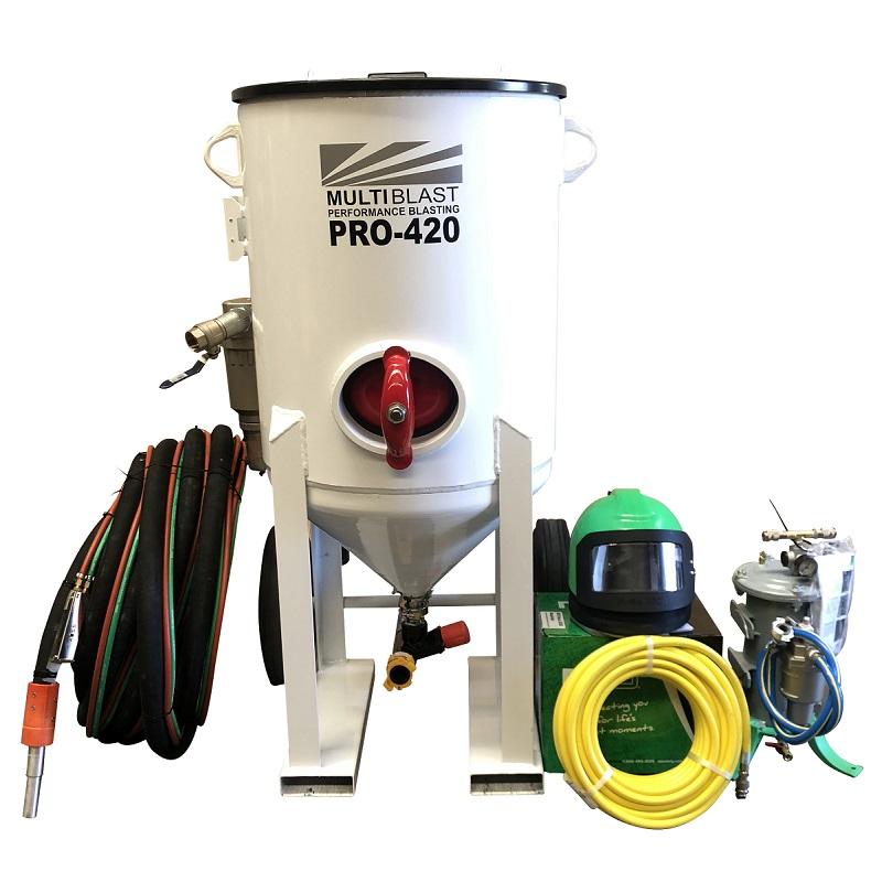 Multiblast Pro420 185 Litre Blasting Pot Machine Full Package Australia