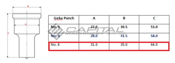 Geka No. 8 Offset Punch