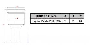 Sunrise square punch post 1999