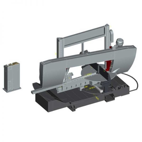 Bomar Transverse Construction 1150.600 Dgs Semi Automatic Horizontal Bandsaw Layout