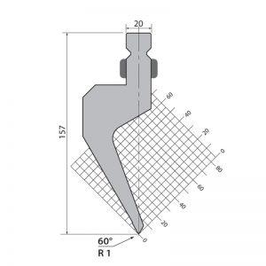 Wila Style Press Brake Top Tooling Hwp157 60 R1
